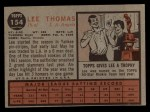 1962 Topps #154 A Lee Thomas  Back Thumbnail
