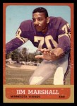 1963 Topps #107  Jim Marshall  Front Thumbnail