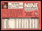 1969 Topps #525  Earl Wilson  Back Thumbnail