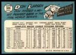 1965 Topps #389  Don Larsen  Back Thumbnail