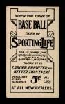 1910 M116 Sporting Life BLK Art Devlin   Back Thumbnail