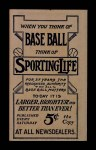 1910 M116 Sporting Life  George Hunter  Back Thumbnail