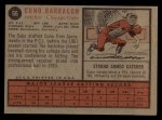 1962 Topps #66  Cuno Barragon  Back Thumbnail