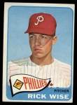 1965 Topps #322  Rick Wise  Front Thumbnail