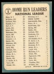 1965 Topps #4   -  Johnny Callison / Orlando Cepeda / Jim Hart / Willie Mays / Billy Williams NL HR Leaders Back Thumbnail
