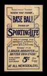 1910 M116 Sporting Life  Al Burch  Back Thumbnail