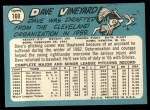 1965 Topps #169  Dave Vineyard  Back Thumbnail