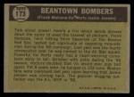 1961 Topps #173   -  Jackie Jensen / Frank Malzone / Vic Wertz Beantown Bombers Back Thumbnail