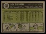 1961 Topps #564  Don Cardwell  Back Thumbnail