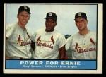 1961 Topps #451   -  Daryl Spencer / Bill White / Ernie Broglio Power for Ernie Front Thumbnail