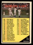 1961 Topps #98 RED  Checklist 2 Front Thumbnail