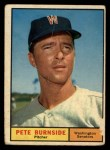 1961 Topps #507  Pete Burnside  Front Thumbnail