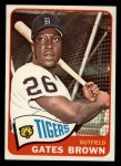 1965 Topps #19  Gates Brown  Front Thumbnail