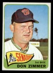 1965 Topps #233  Don Zimmer  Front Thumbnail
