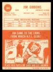 1963 Topps #30  Jim Gibbons  Back Thumbnail