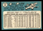 1965 Topps #122  Bill Pleis  Back Thumbnail