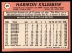1969 Topps #375  Harmon Killebrew  Back Thumbnail