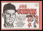 1969 Topps #484  Joe Gordon  Back Thumbnail