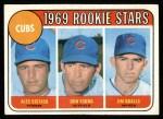 1969 Topps #602 ^COR^  -  Alec Distaso / Don Young / Jim Qualls Cubs Rookies Front Thumbnail