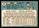 1965 Topps #523  Mike Brumley  Back Thumbnail