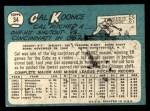1965 Topps #34  Cal Koonce  Back Thumbnail