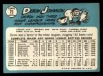 1965 Topps #75  Deron Johnson  Back Thumbnail