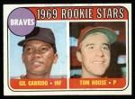 1969 Topps #331   -  Gil Garrido / Tom House Braves Rookies Front Thumbnail