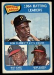 1965 Topps #2   -  Roberto Clemente / Hank Aaron / Rico Carty NL Batting Leaders Front Thumbnail