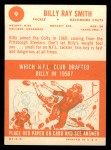 1963 Topps #9  Billy Ray Smith  Back Thumbnail