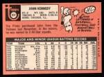 1969 Topps #631  John Kennedy  Back Thumbnail