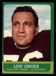 1963 Topps #19  Lou Groza  Front Thumbnail