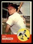 1963 Topps #88  Ron Hansen  Front Thumbnail