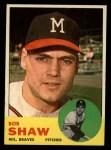 1963 Topps #255  Bob Shaw  Front Thumbnail