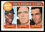 1969 Topps #654   -  Carlos May / Rich Morales / Don Secrist White Sox Rookies   Front Thumbnail