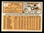 1963 Topps #11  Lee Walls  Back Thumbnail