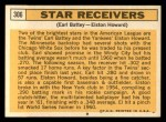 1963 Topps #306   -  Earl Battey / Elston Howard Star Receivers   Back Thumbnail