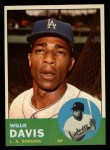 1963 Topps #229  Willie Davis  Front Thumbnail