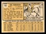 1963 Topps #403  Ron Perranoski  Back Thumbnail