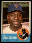 1963 Topps #217  Joe Christopher  Front Thumbnail