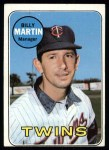 1969 Topps #547  Billy Martin  Front Thumbnail