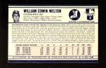 1972 Kelloggs #12  Bill Melton  Back Thumbnail