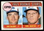 1969 Topps #646   -  Carl Morton / Dan McGinn Expos Rookies Front Thumbnail