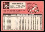 1969 Topps #550  Brooks Robinson  Back Thumbnail