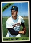 1966 Topps #258  Dave Giusti  Front Thumbnail