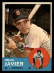 1963 Topps #226  Julian Javier  Front Thumbnail