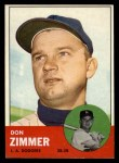 1963 Topps #439 TCH Don Zimmer  Front Thumbnail
