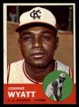 1963 Topps #376 *ERR* John Wyatt  Front Thumbnail