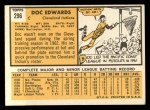 1963 Topps #296  Doc Edwards  Back Thumbnail
