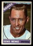 1966 Topps #184  Denis Menke  Front Thumbnail