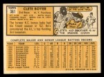 1963 Topps #361  Clete Boyer  Back Thumbnail
